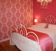 Lewis Decorating — Bedroom (Aberlady) — Painted and decorated using paint colour matching a colour in the wallpaper.